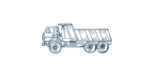 Icon of a dumpster truck