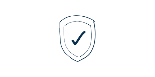 Icon of a badge with a check mark