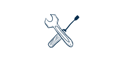 Icon of a wrench and screwdriver