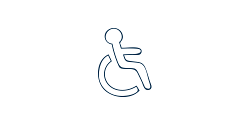 Icon of a disabled person in a wheelchair