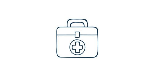 Icon of a medical bag