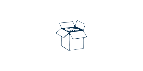 Icon of an open box