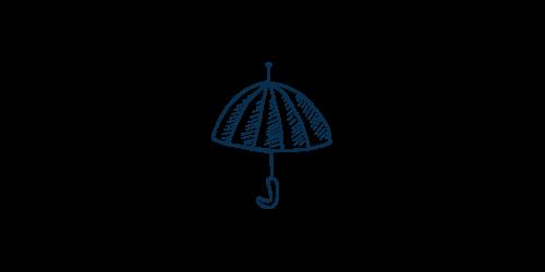 Icon of an umbrella